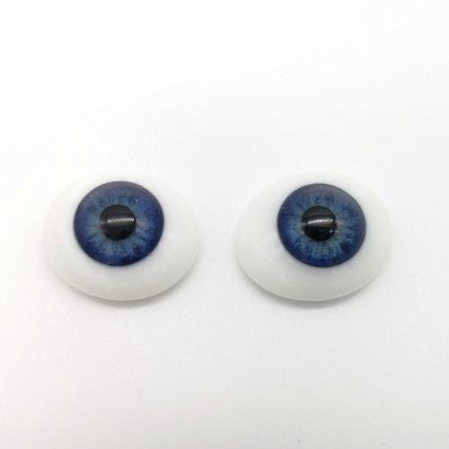 """Ojos 22"""" planos de cristal azules"""