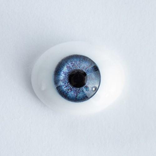 Ojos Planos Azules 20mm Ovalados