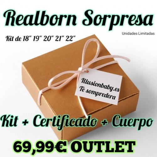 REALBORN SORPRESA + CERTIFICADO + CUERPO