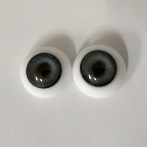 Eyes blue-gray glass half ball German 20mm