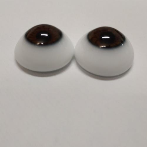 Ojos Avellana de cristal media bola Alemana 20mm