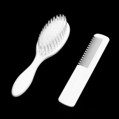 Comb and White Baby Brush
