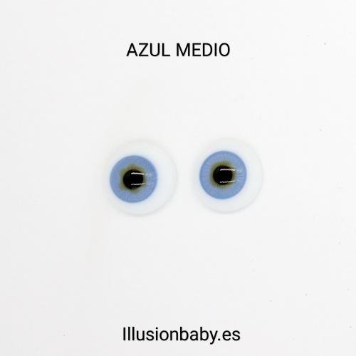 "Ojos Azules 20"" Premium de cristal Aleman"