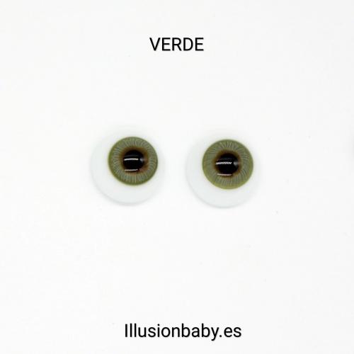 "Ojos Verdes 18"" Premium de cristal Aleman"