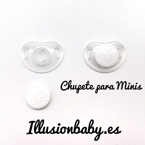Magnet pacifier for transparent white mini