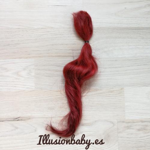 Mohair de Angora Rojo Sangría Premium