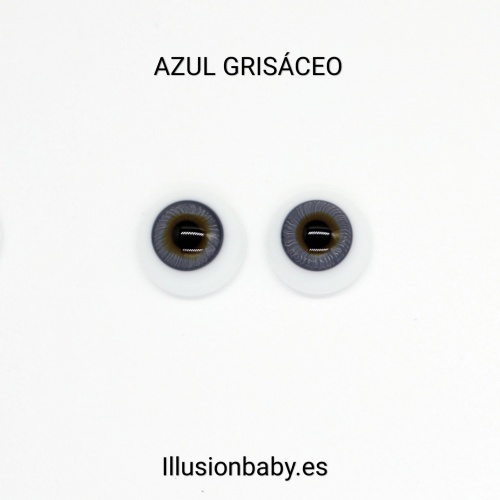 Ojos Azul Grisáceo 24mm Premium de cristal Aleman