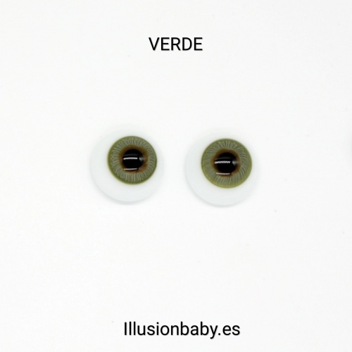 Ojos Verdes 24mm Premium de cristal Aleman