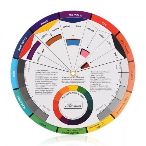Roda de cores ou círculo cromático para pintar renascido