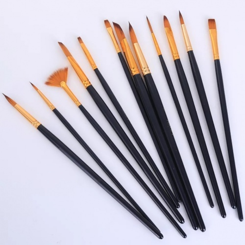 Set of 12 high quality brushes