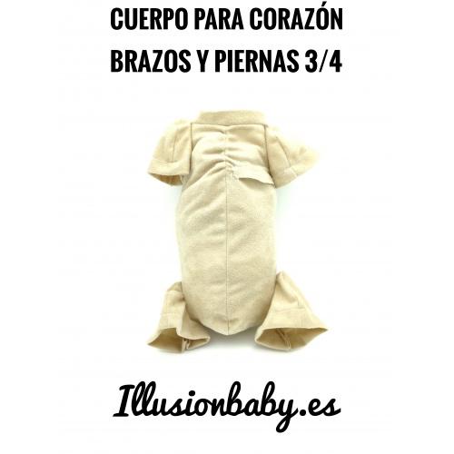 """19""""20"""" miemb. 3/4 Cuerpo Premium con bolsillo para corazón"""