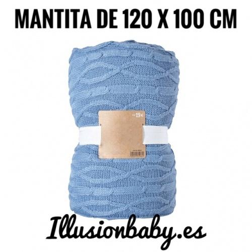 Manta de bébé azul