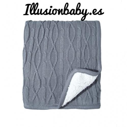 Manta de bébé gris