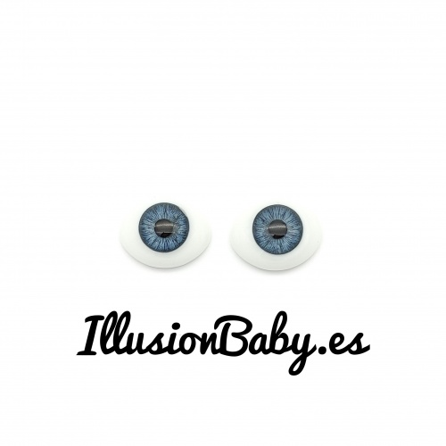 18mm baby blue crystal eyes
