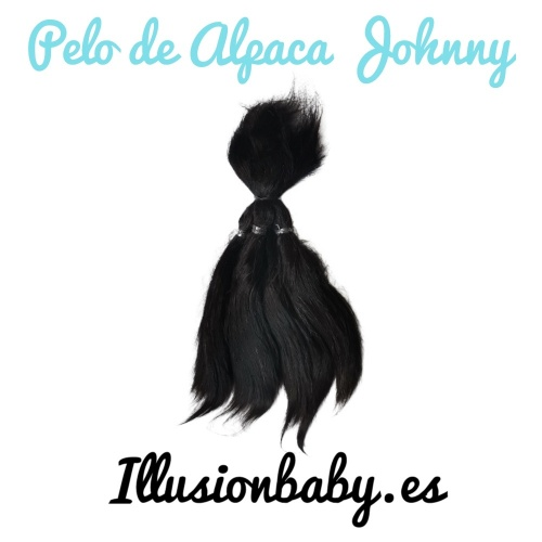 Alpaca Hair Johnny Black for Reborn kit