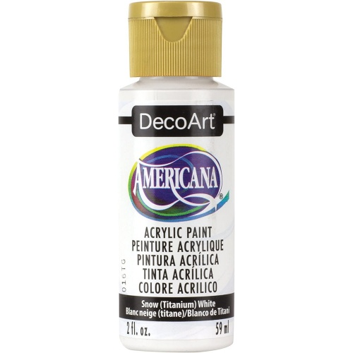 DecoArt Americana Snow White Acrylic Matte Finish 59ML