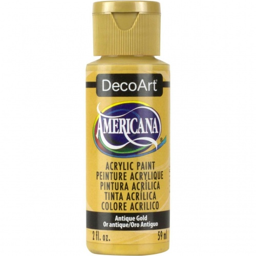 Antique Gold Acrylic Matte Finish by DecoArt Americana 59ML