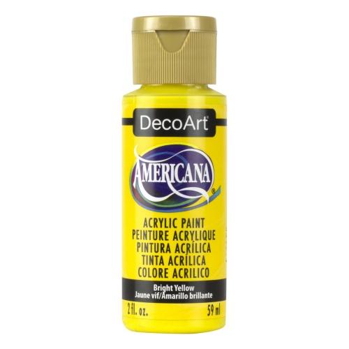 Acabamento fosco acrílico amarelo brilhante por DecoArt...