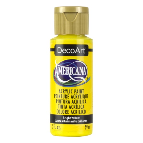 Bright Yellow Acrylic Matte Finish by DecoArt Americana 59ML