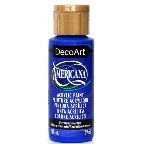 DecoArt Americana 59ML Matte Ultramarine Blue Acrílico