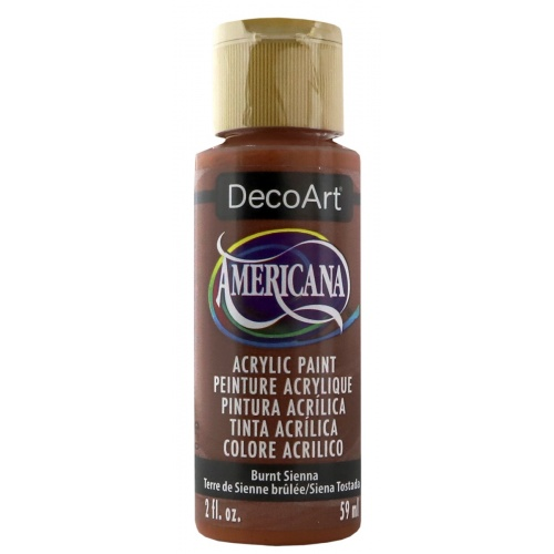 Burnt Sienna Acrylic Matte Finish by DecoArt Americana 59ML