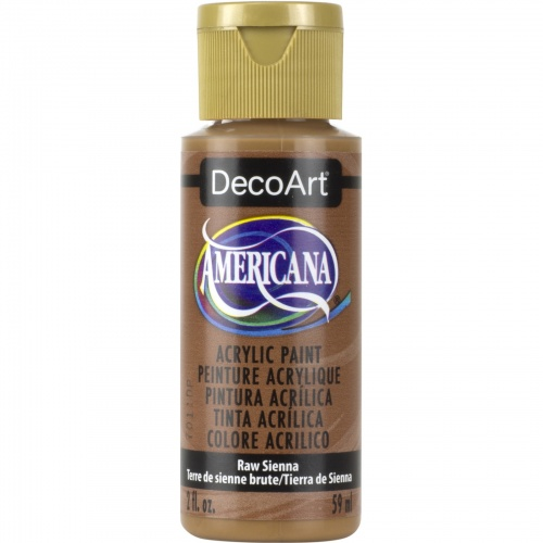 Raw Sienna Acrylic Matte Finish by DecoArt Americana 59ML