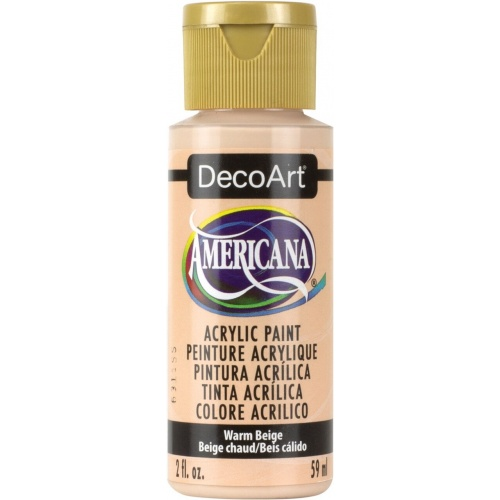 Warm Beige Acrylic Matte Finish by DecoArt Americana 59ML