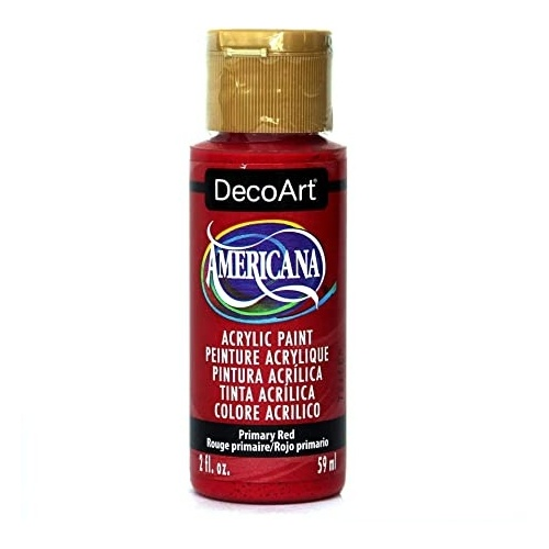 Primary Red Acrylic Matte Finish by DecoArt Americana 59ML