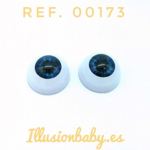"""Ojos acrílicos 20"""" azul"""