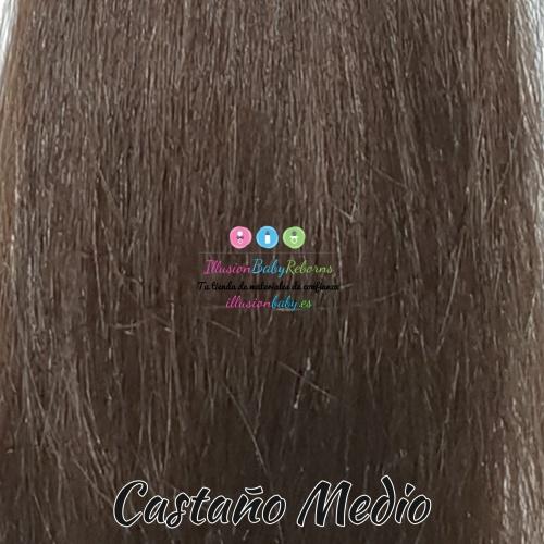 Medium brown natural hair