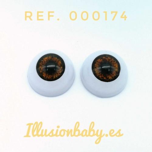 """Ojos acrílicos 20"""" marrón"""