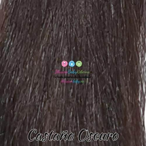 Dark brown natural hair