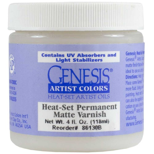 Genesis Original Matte Varnish 118ml - 4OZ Heat-Set...