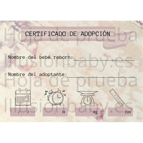 Reborn Adoption Certificate