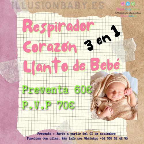 """""""PRÉ-VENDA"""" 3 em 1 respirador, coração e choro para bebês"""