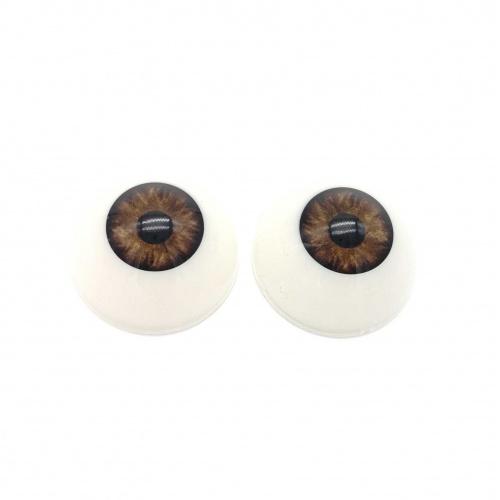 Ojos acrílicos 18mm premium marrones