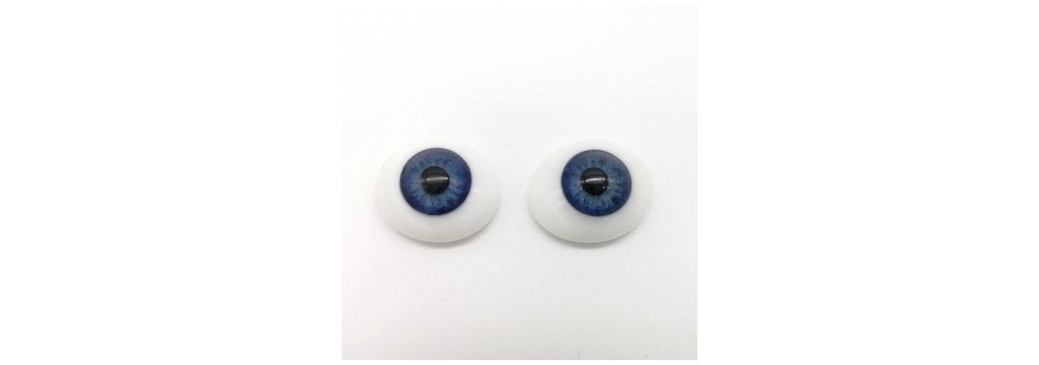 Ojos de cristal ovalados